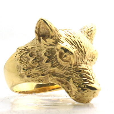 Mens 316L Stainless Steel Wolf Newest Ring - Mirage Novelty World