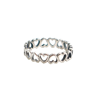 Unisex 925 Silver Simple Fashion Lover Ring Newest Gift - Mirage Novelty World