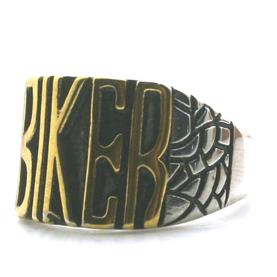 316L Stainless Steel Cool Silver Punk Gothic BIKER Cool Motorcycle Ring Newest Ring - Mirage Novelty World