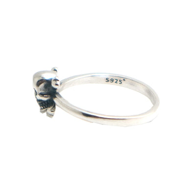 Unisex 925 Silver Punk Gothic Pirate Polishing Skull Ring - Mirage Novelty World