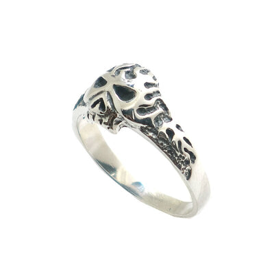 Unisex S925 Silver Cool Biker Flaming Skull Ring Newest For Gift - Mirage Novelty World