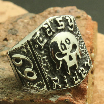 Mens Boys 316L Stainless Steel Cool Rider Biker Skull Newest Ring - Mirage Novelty World