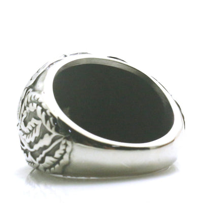 Men Boy 316L Stainless Steel Northern Europe Vikings Vintage Silver Ring - Mirage Novelty World