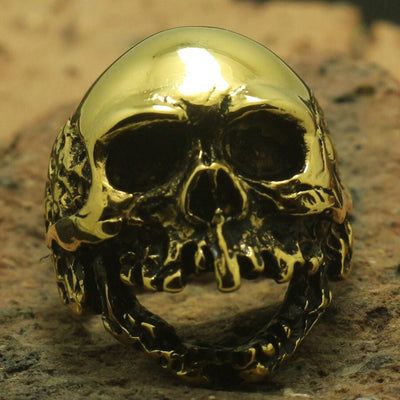 Classic Heavy Skull Ring 316L Stainless Steel Polishing Cool Party Ring Gift For Friend - Mirage Novelty World