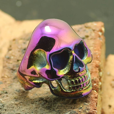 Unisex 316L Stainless Steel Biker Skull Ring Cool Gift - Mirage Novelty World