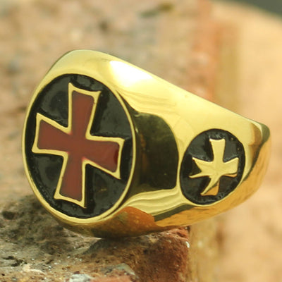 Mens Boys 316L Stainless Steel New Cross Ring - Mirage Novelty World