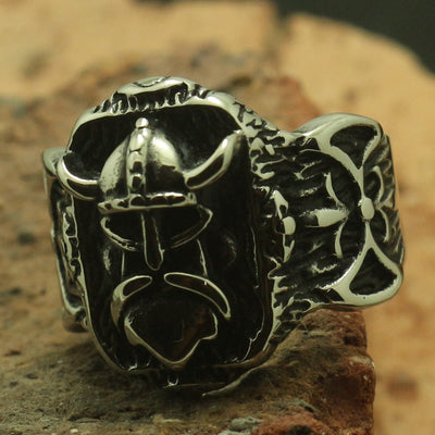 Great Vikings Warrior Ferocious Brave 316L Stainless Steel Cool Ring Best Gift - Mirage Novelty World