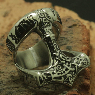 316L Stainless Steel Silver Classic Thor Cool Ring or Party Ring Gift For Friend - Mirage Novelty World