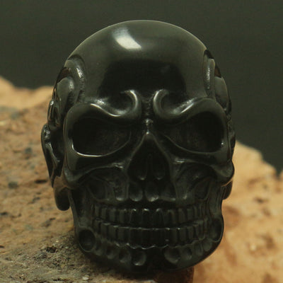 Cool Mens Boy 316L Stainless Steel Black Devil Skull Ring Party Best Gift Band Biker - Mirage Novelty World