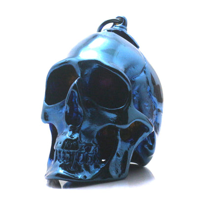 Huge Men 316L Stainless Steel Cool Polishing Big Blue Rider Hot Classic Skull Pendant - Mirage Novelty World