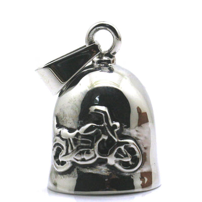 316L Stainless Polishing Silver Jingle Bell Cool Motorcycle Biker Pendant - Mirage Novelty World