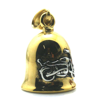 Mens 316L Stainless Polishing Golden&Silver Motorcycle Biker Jingle Bell Hot Pendant - Mirage Novelty World