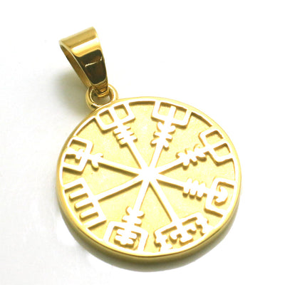 316L Stainless Steel Cool Viking Golden Vintage Pendant - Mirage Novelty World
