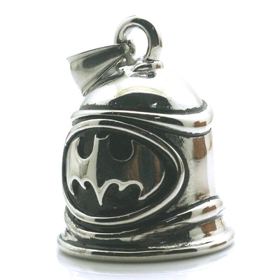 Men Boy 316L Stainless Steel Cool Polishing Silver Batman Original Cool Silver Bell Pendant - Mirage Novelty World