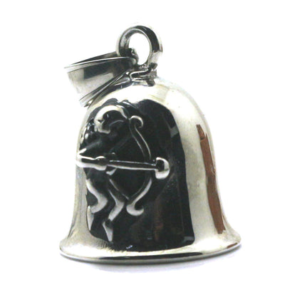 Men Boy 316L Stainless Cool Silver Cupid's Arrow Lover Angel Newest Bell Pendant - Mirage Novelty World