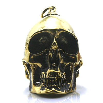 Ghost Rider Heavy Men Boy 316L Stainless Steel Cool Polishing Hot Big Biker Skull Golden & Black Pendant - Mirage Novelty World