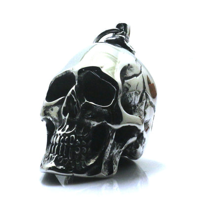 Men 316L Stainless Steel Polishing Cool Punk Gothic Skeleton Silver Black Rider Fashion Pendant - Mirage Novelty World