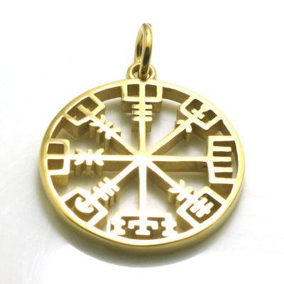 316L Stainless Steel Cool Viking Simple Golden Vintage Pendant - Mirage Novelty World