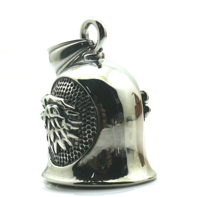 Mens 316L Stainless Steel Polishing Wolf Double Sided Pattern Delicate Jingle Bell Pendant - Mirage Novelty World