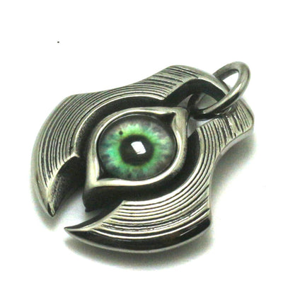 316L Stainless Steel Silver Crystal Stone Eye Cool Spacecraft Pendant Gift For Friend - Mirage Novelty World