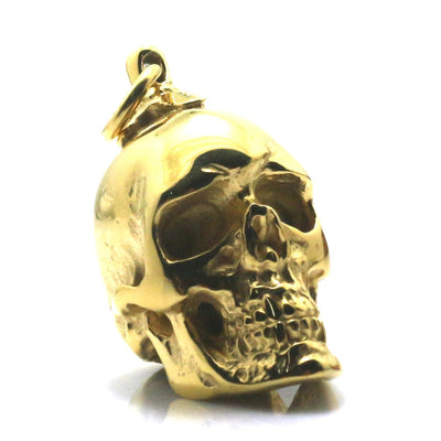 Boy 316L Stainless Steel Polishing Golden Skull Biker Pendant Newest For Gift - Mirage Novelty World