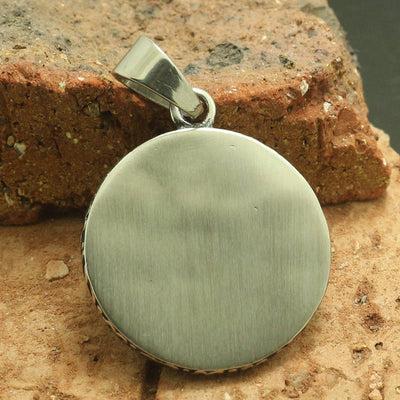316L Stainless Steel Cool Red Stone Sun Style Pendant - Mirage Novelty World