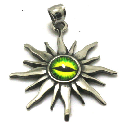 316L Stainless Steel Silver Tears Of Sun Cool Green Stone Pendant Gift For Friend - Mirage Novelty World