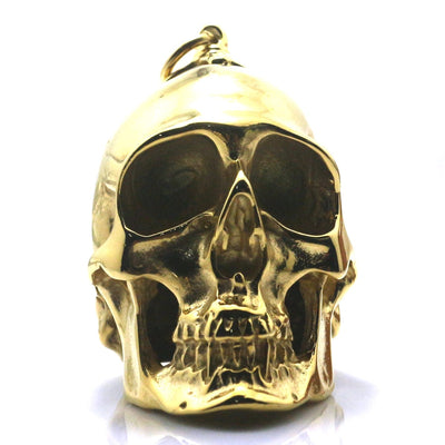 Heavy Men Boy 316L Stainless Steel Cool Polishing Hot Big Biker Skull Golden Pendant For Rider - Mirage Novelty World