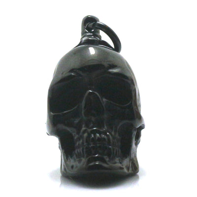 Boy 316L Stainless Steel Polishing Cool Black Punk Gothic Skull Pendant Necklace Chain - Mirage Novelty World