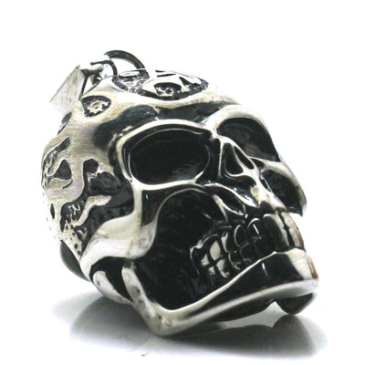 Boy 316L Stainless Steel Cool Flaming Biker Punk Gothic Skull Classice Necklace Chain Newest - Mirage Novelty World