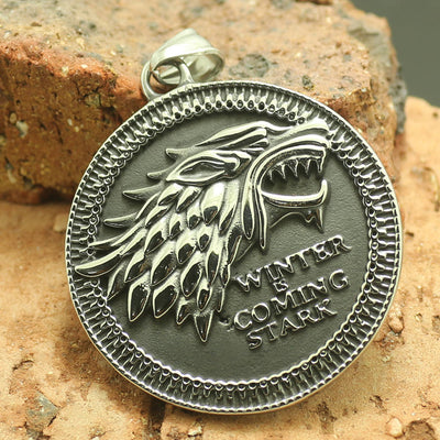 316L Stainless Steel Game of Thrones Cool Wolf Pendant - Mirage Novelty World