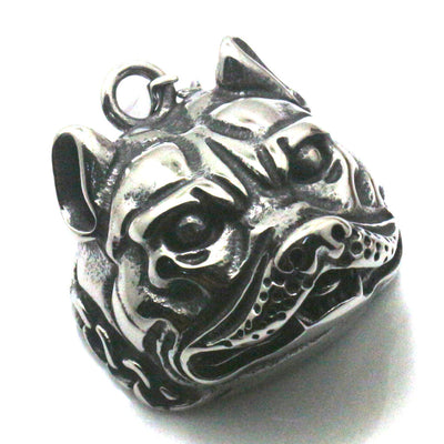 Men 316L Stainless Steel Cool Punk Gothic Cool Bulldog Pendant - Mirage Novelty World