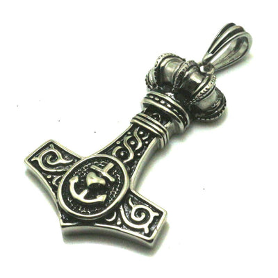316L Stainless Steel Silver Crown Anchor Cool Pendant Gift For Friend Best Wish - Mirage Novelty World
