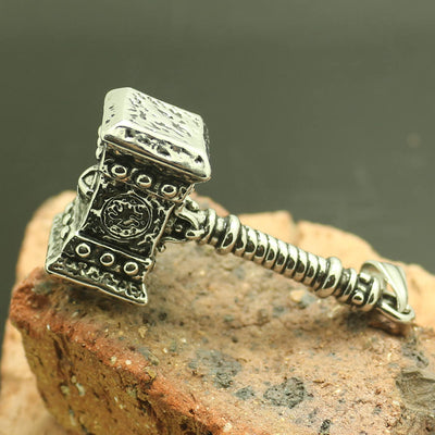 Mens Boys 316L Stainless Steel Cool Thor's Hammer Newest Pendant - Mirage Novelty World