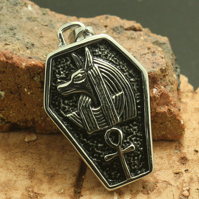 Mens Boys 316L Stainless Steel Cool Punk Gothic Mummy Coffin Silver Pendant - Mirage Novelty World