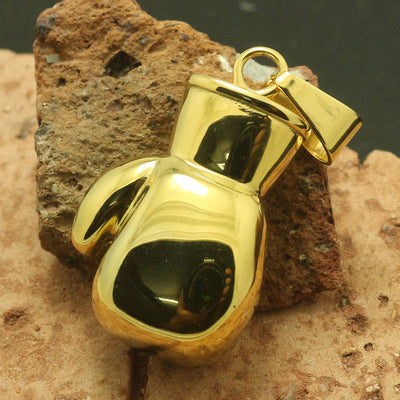 Unisex 316L Stainless Steel Big Heavy Golden Classic Boxing Glove Pendant For Boxing Match Guarantee 100% - Mirage Novelty World