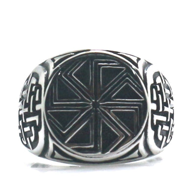 316L Stainless Steel Cool Punk Gothic Beautiful Stone Flower Vintage Ring - Mirage Novelty World
