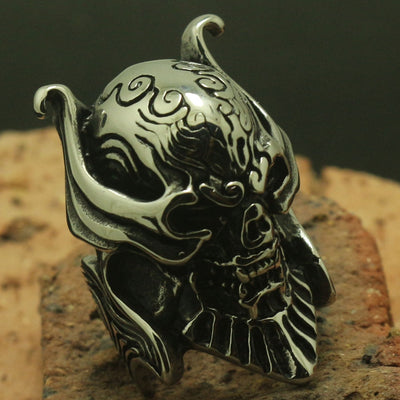 Men Boy Cool 316L Stainless Steel Devil Evil Spirit Azrael Ring Rock Party Band Gift - Mirage Novelty World
