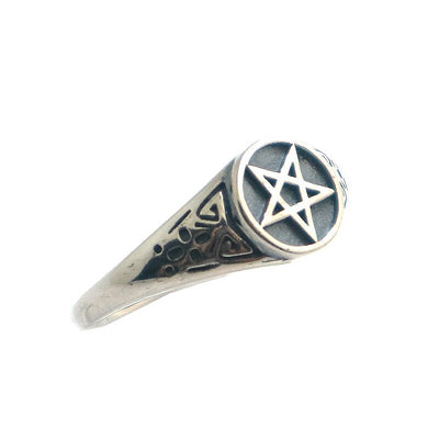 Unisex 925 Silver Six Mans Star Cool Ring - Mirage Novelty World