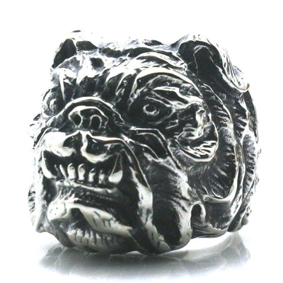 316L Stainless Steel Ferocious Dog Cool Ring Newest - Mirage Novelty World