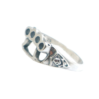 Unisex 925 Silver Punk Gothic Classic Pirate Skull Ring - Mirage Novelty World