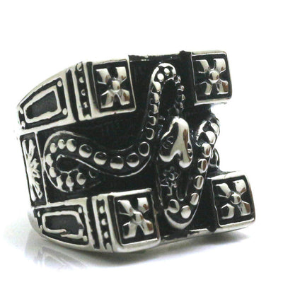 316L Stainle Steel Punk Gothic Snake Cool Ring - Mirage Novelty World