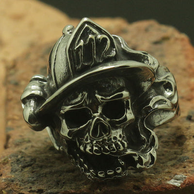Mens Boy 316L Stainless Steel 112 Devil Skull Ring Cool Band Or Party Ring Good Gift - Mirage Novelty World