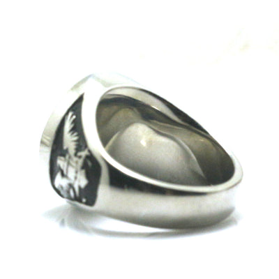 Mens 316L Stainless Steel Cool Silver Eagle Ring - Mirage Novelty World