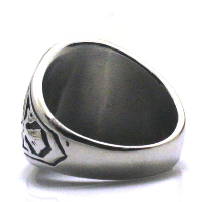 Men Boy 316L Stainless Steel Cool United States Army Black Stone Classic Ring - Mirage Novelty World