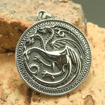 316L Stainless Steel Game of Thrones Cool Dragon Pendant - Mirage Novelty World
