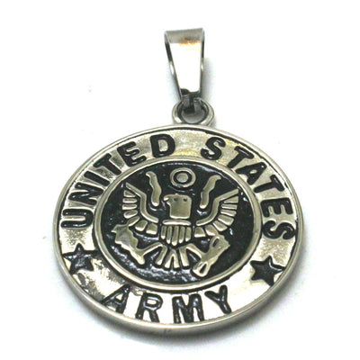 Men 316L Stainless Steel Cool Silver United States Army Silver Pendant Newest - Mirage Novelty World