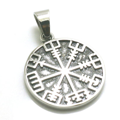 316L Stainless Steel Cool Viking Silver Vintage Pendant - Mirage Novelty World