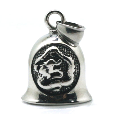 316L Stainlesss Steel Cool Punk Gothic Silver Dragon Bell Pendant Newest - Mirage Novelty World