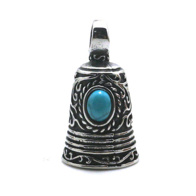 Mens 316L Stainlesss Steel Cool Vintage Bell Newest Stone Pendant - Mirage Novelty World